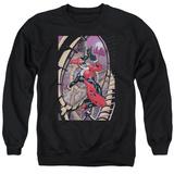 Crewneck Sweatshirt: Harley Quinn- Coaster Spiral T-Shirt