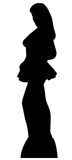 Woman Side Profile Silhouette Cardboard Cutouts