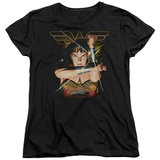 Womens: Wonder Woman- Deflecting Bullets T-Shirt