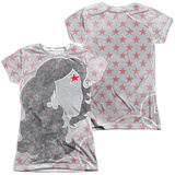 Juniors: Wonder Woman- Stylish Profile (Front/Back) T-Shirt