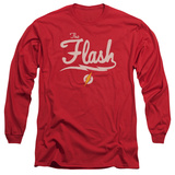 Long Sleeve: The Flash- Lightning Script Logo T-Shirt