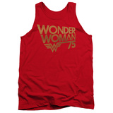 Tank Top: Wonder Woman- 75Th Anniversary Gold Logo Tank Top