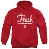 Hoodie: The Flash- Lightning Script Logo Pullover Hoodie