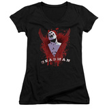 Juniors: Deadman- Ghostly Anguish V-Neck T-Shirt