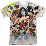 Wonder Woman- 75Th Collage Shirts