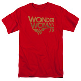 Wonder Woman- 75Th Anniversary Gold Logo T-shirts