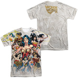Wonder Woman- 75Th Collage (Front/Back) T-Shirt