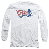 Long Sleeve: Wonder Woman- 75Th Anniversary Silhouette Long Sleeves