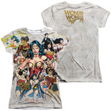 Juniors: Wonder Woman- 75Th Collage (Front/Back) Shirts