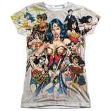 Juniors: Wonder Woman- 75Th Collage Womens Sublimated