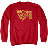 Crewneck Sweatshirt: Wonder Woman- 75Th Anniversary Gold Logo T-shirts