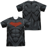 Batman- Red Hood Logo Costume Tee (Front/Back) Sublimated