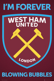 West Ham United- Forever Blowing Bubbles Crest Poster