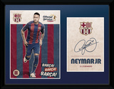 Barcelona - Neymar Vintage 16/17 Collector-tryk