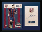 Barcelona - Messi Vintage 16/17 Wydruk kolekcjonerski