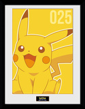 Pokemon - Pikachu Mono Collector Print