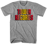 Tower Records- Gold Shadow Logo T-shirts