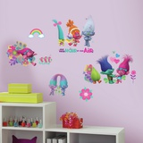 Trolls Movie Peel and Stick Wall Decals Autocollant mural