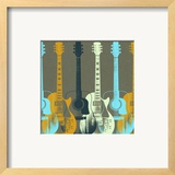 Guitars 5 Posters by Stella Bradley