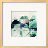 Teal Mountains III Print by Amy Lighthall
