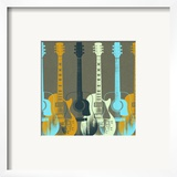 Guitars 5 Poster by Stella Bradley