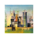 Golden City 2 Giclee Print by Asha Menghrajani