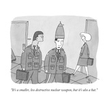 """It's a smaller, less destructive nuclear weapon, but it's also a hat."" - New Yorker Cartoon Premium Giclee Print by Peter C. Vey"