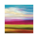 Magenta Horizon Giclee Print by Mary Johnston