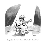 """I've got those 'Don't worry about me, I'll just be here, all alone' blues - New Yorker Cartoon Premium Giclee Print by Benjamin Schwartz"