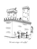 """It's not a siege—it's a flip."" - New Yorker Cartoon Premium Giclee Print by Tom Cheney"