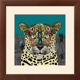 Leopard Queen Teal Posters by Sharon Turner