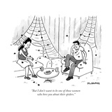 """But I don't want to be one of those women who bore you about their spider - New Yorker Cartoon Premium Giclee Print by John McNamee"