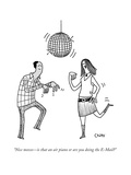 "Nice moves—is that an air piano or are you doing the E-Mail?"" - New Yorker Cartoon Premium Giclee Print by Tom Chitty"