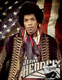 Jimi Hendrix - Flag Tin Sign