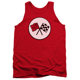 Tank Top: Chevrolet- 2Nd Corvette Logo Badge Tank Top