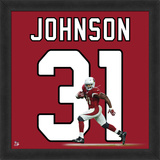 David Johnson, Cardinals photographic representation of the player's jersey Framed Memorabilia