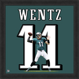 Carson Wentz photographic representation of the player's jersey Framed Memorabilia