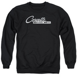 Crewneck Sweatshirt: Chevrolet- Chrome Vette Stingray Logo T-Shirt