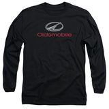Long Sleeve: Oldsmobile- Modern Chrome Logo T-Shirt