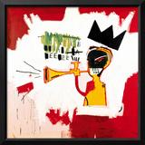 Trumpet, 1984 Framed Giclee Print by Jean-Michel Basquiat