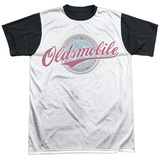 Oldsmobile- Oversized And Faded Logo Black Back T-shirts