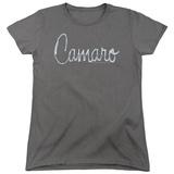 Womans: Chevrolet- Camaro Chrome Script T-shirts