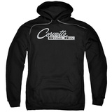 Hoodie: Chevrolet- Chrome Vette Stingray Logo Pullover Hoodie
