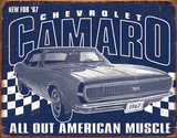 Camaro - 1967 Muscle Tin Sign