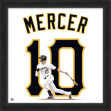 Jordy Mercer, Pirates photographic representation of the player's jersey Framed Memorabilia