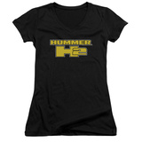 Juniors: Hummer- H2 Block Logo V-Neck Womens V-Necks