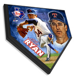 Nolan Ryan Home Plate Plaque Wall Sign
