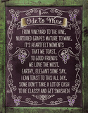 Ode to Wine Tin Sign