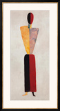 The Girl, Figure on White Prints by Kasimir Malevich