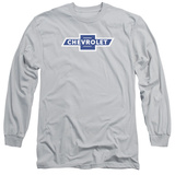 Long Sleeve: Chevrolet- Vintage White Border Logo Long Sleeves